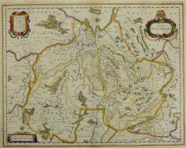 Overijssel – Ditio Trans-Isulana.; J. Janssonius – 1638