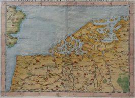 Vlaanderen, Brabant en Holland – Flandra Brabantia et Holanda Nvova.; G. Ruscelli – 1574