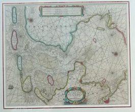 Waddenzee, IJsselmeer – Pas Caart van de Zuyder-Zee (..).; H. Doncker -1664