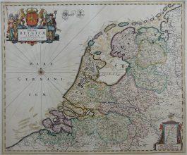 The Netherlands – VII Provincën – Foederatae Belgicae Tabula (..).; F. de Wit -1670 ca.