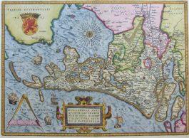 Holland – Hollandiae Antiquorum (..).; A. Ortelius – 1584