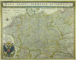 Germany: 1635-1660 – W. & J. Blaeu; Nova Totius Germaniae Descriptio.