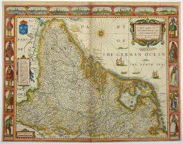 XVII Provinciën – A New Mape of ye XVII Provinces of Low Germanie (..).; J. Speed – 1676