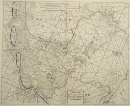 Waddenzee, IJsselmeer – A chart of the South Sea (..).; S. Thornton – 1756