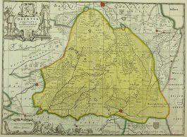 Drenthe – Drentia Comitatus Transiselaniae Tabula II.; J. Janssonius / P. Schenk & G. Valk – 1700 ca.