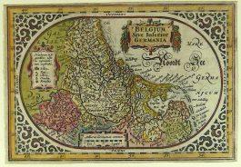 XVII Provinciën – Belgum Sive Inferior Germania; A. Goos / J. Janssonius – 1628