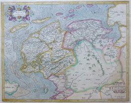 Friesland, Groningen en Drenthe – Frisiae Occidentalis.; G. Mercator & H. Hondius – 1633