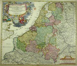XVII Provinciën – Tabula Generalis Totius Belgii qua Provinciae XVII (..); J. B. Homann -1729