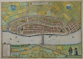 Kampen; G. Braun & F. Hogenberg – Urbis Campensis (..) – 1581-1617