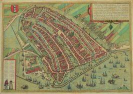 Amsterdam; G. Braun & F. Hogenberg – Amstelredamum nobile (…) – 1572-1617