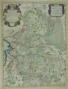 Overijssel, Drenthe – La Seigneurie de Over-IJssel (..) ; P. Mortier / J. Jaillot – 1692