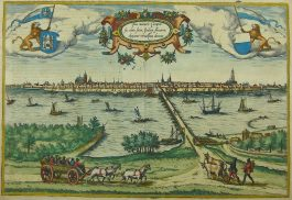 Kampen; G. Braun & F. Hogenberg – Icon civitatis Campensis – 1575-1617