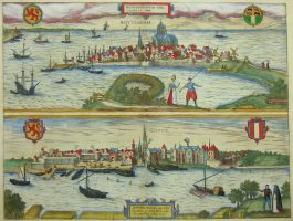 Rotterdam, Gouda; G. Braun & F. Hogenberg – Roterodamum en Gouda Hollandiae Opp. (..) – 1581-1617