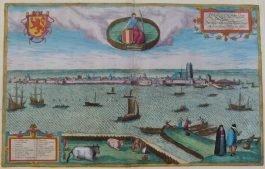 Dordrecht; G. Braun & F. Hogenberg – Dordracum (..) – 1575-1617