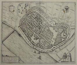 Deventer; G. Braun & F. Hogenberg – (…) Daventriensis Delineatio – 1581-1617