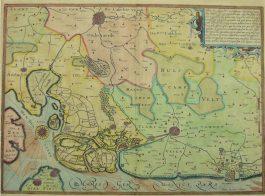 Noord West-Vlaanderen / West Zeeuws-Vlaanderen – (..) Flandriae per que superioribus (..); J. Hondius / P. Kaerius – 1628