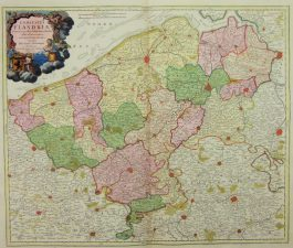 Vlaanderen – Flanders – Comitatus Flandriae (..).; J.B. Homann – 1620 ca.