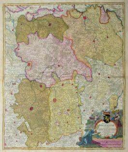 Brabant – Ducatus Brabantiae Nova Tabula (..).; J.B. Homann – 1720 ca.