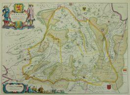 Drenthe – Drentia Comitatus Transiselaniae Tabula II.; W. & J. Blaeu – 1640-1658