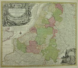 XVII Provinciën – XVII. Provinciae Belgii sive Germaniae Inferioris (..).; M. Seutter – 1740 ca.