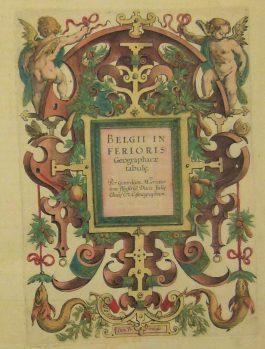 Atlas (part): BELGII INFERIORIS Georgraphicae (..) – Belgium, France, Luxembourg, Germany, the Netherlands; G. Mercator & J. Hondius Jr.- 1613-1619