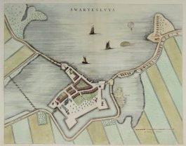 Zwartsluis – Swartesluys.; J. Blaeu – 1649